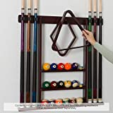 Pool Cue Rack - Pool Stick Holder Wall Mount With