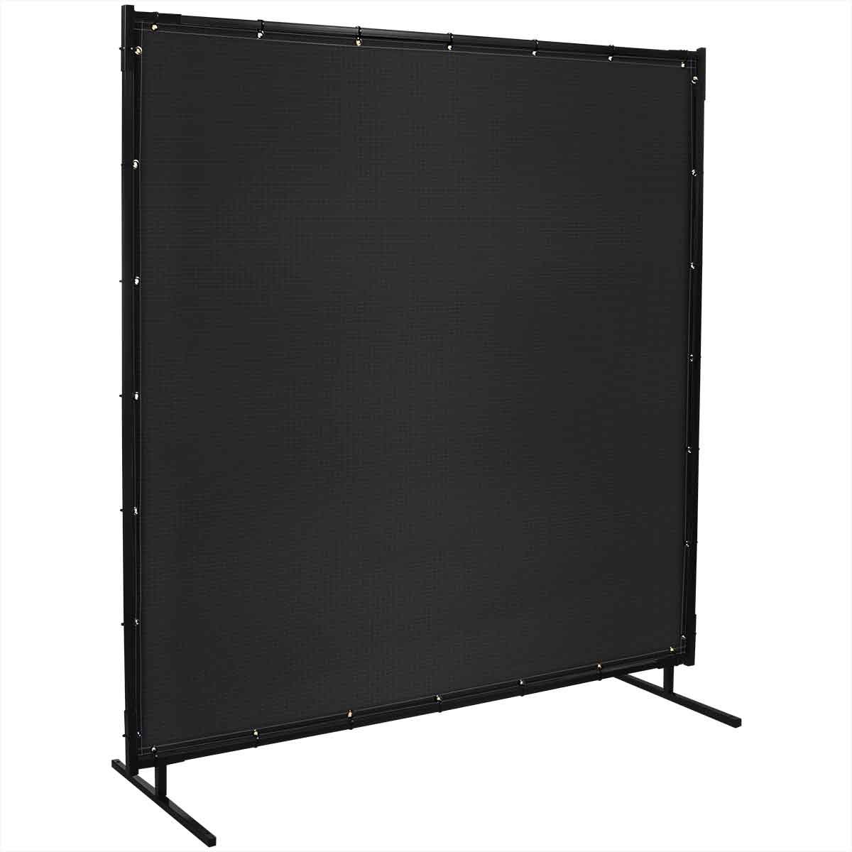 Steiner 536-5X6 Protect-O-Screen Classic Welding Screen with 13-Ounce Vinyl Laminated Polyester Curtain, Black, 5 x 6'