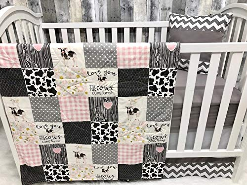 Baby Girl Nursery Bedding, Baby, Farm LIfe, Cow, Chickens, Cowboy, Farmer, Tractor, Baby Bedding, Crib Bedding, Babylooms from Babylooms