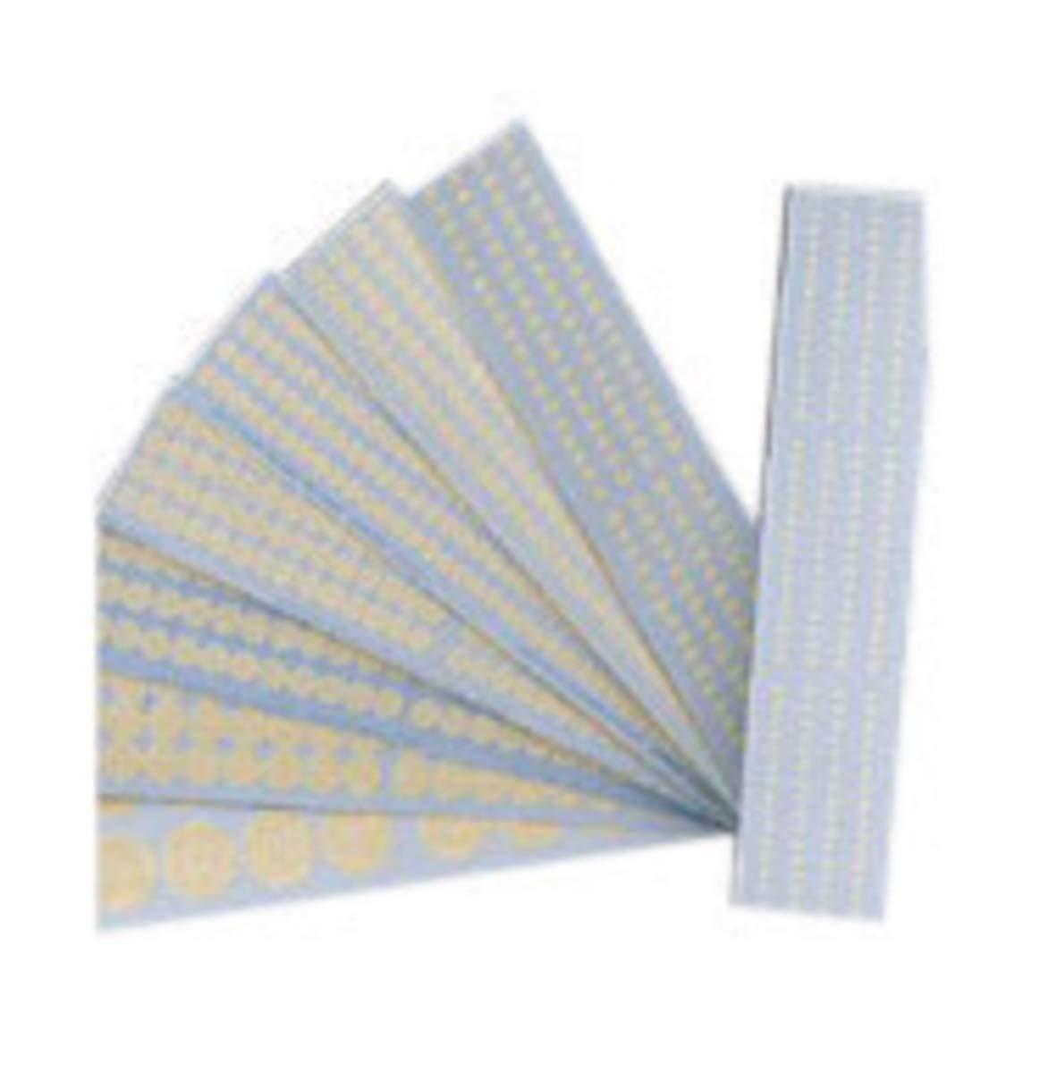 Brady 1/2'' Beige Paper Dots Masking Tape, 10 Card