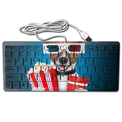 Mini Keyboard USB Wired Ultra Slim Dog Popcorn Glasses Funny Light Portable Universal 78key For Notebook Computer PC Desktops Laptop