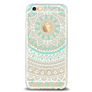 Ailun iPhone 6/6s Acrylic Back&TPU Frame Case with India Tribal Pattern FBA