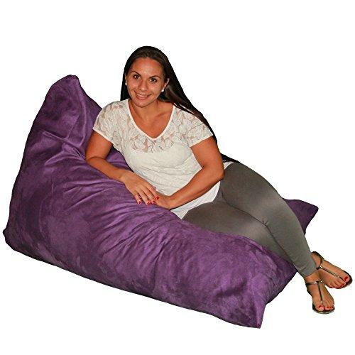 Bean Bag Chair Premium Cozy Foam Filled Cozy Lounger medium Purple by Cozy Sack