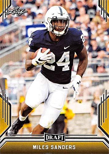 Miles Sanders Football Card (Penn State Nittany Lions, Philadelphia Eagles) 2019 Leaf Draft GOLD #56 ()