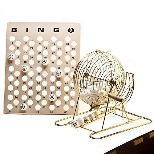 Large Professional Brass Bingo Cage Set 15 3/4'' High