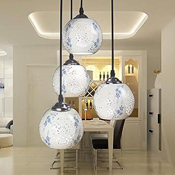 Restaurante moderno minimalista LED, lamparas de techo ...