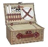 Antique-Wash-Weidenrinden-Picknickkorb-fr-2-Personen