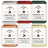 The Carry On Cocktail Kit Old Fashioned, Moscow Mule, Gin and Tonic, Bloody Mary, Hot Toddy, Champagne Cocktail - 6 Pack Carry On Cocktail Kit Holiday Set, Six Carry On Cocktail Kits Makes 12 Drinks