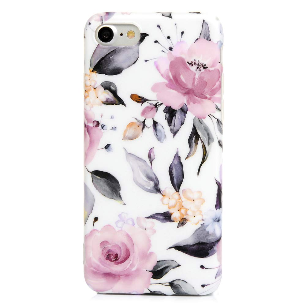 VoguSaNa iPhone 8 Handyh/ülle Marmor iPhone 7 H/ülle Case Cover Silikon Matt Marble Muster D/ünn Tasche Slim Schutzh/ülle Handytasche Herren Damen Skin Softcase Schale Bumper Silikonh/ülle-Hell Blau