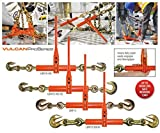 VULCAN Ratchet Style Load Binder with Grab and Slip Hooks - Classic - 7,100 Pound Safe Working Load