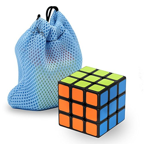 Wellead Speed Cube 3x3x3 Anti-sticky Stickers Magic Cube Toy Puzzle for Kids and Worker