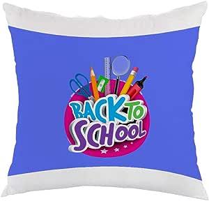 مخدة back to school بطبعة العودة للمدرسة ، قماش مخمل 40cm X 40cm