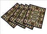 Frank Lloyd Wright Oak Park Skylight Window Tapestry Placemat SET of FOUR