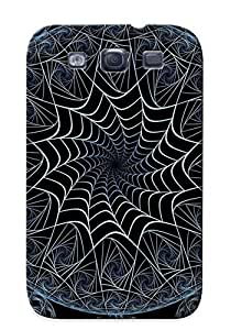 Premium Snap-on Fractal Circles Case For Galaxy S3 Series
