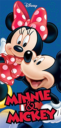 Disney Mickey Minnie Hug Beach Towel 28x58