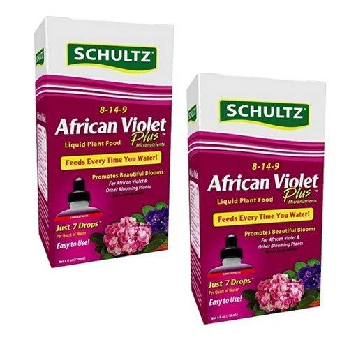 Schultz SPF44900 African Violet Plus Liquid Plant Food 8-14-9, 4 oz (2 Pack) (Plant Plus Schultz Food)