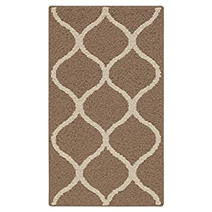 Accent Rug, Maples Rugs [Made in USA][Rebecca] 1'8 x 2'10 Non Slip Padded Small Throw Rugs for Living Room, Bedroom, and Kitchen