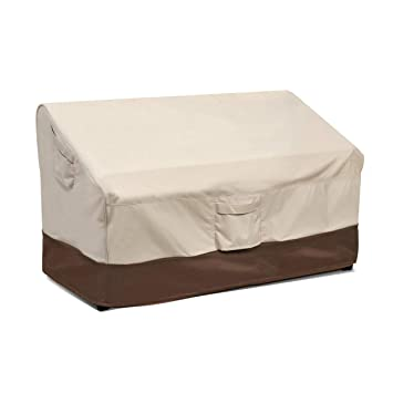 Vailge Heavy Duty Patio Bench Loveseat Cover, 100% Waterproof Outdoor Sofa  Cover, Lawn Patio Furniture Covers with Air Vent, Small(Standard), Beige &  ...