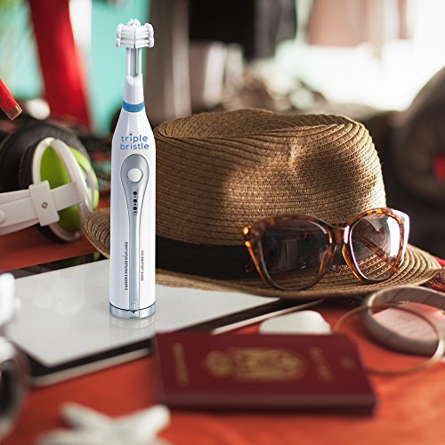Triple Bristle Go Travel Sonic Toothbrush - AA Battery Charged, Perfect For On The Go Life Style - Great for camping, sleep overs, office, traveling, gym or in a Urt in Utah. Where will your Go, go? by Triple Bristle (Image #3)