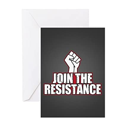 Amazon Cafepress Join The Resistance Greeting Card Note