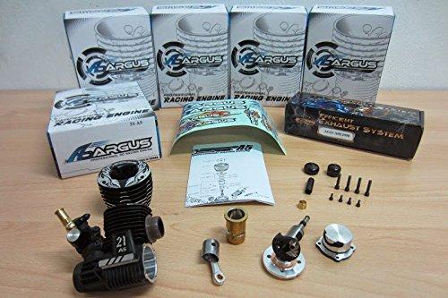 Argus nitro Engines - Motor Argus 21 A5 COMPETICIÓN 5 TRANSFERS Turbo - ARG001: Amazon.es: Juguetes y juegos