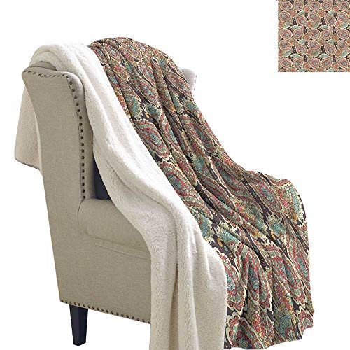 Baby Blanket Paisley Middle Eastern Motifs Asia Autumn and Winter Thick Blanket W59 x L31