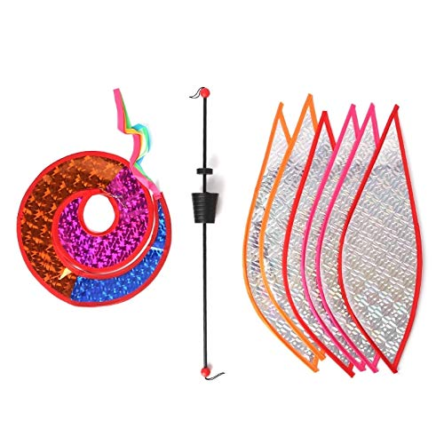(Decorative Stakes & Wind Spinners - Balloon Windmill Kid Toys Glow Spiral Garden Ornaments Colorful Outdoors Spinner Yard Decorative - Spiral 3d Garland Free Stake Bulb Power Spinner Chris)