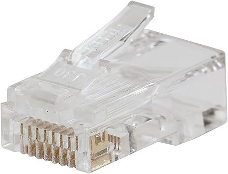 Amazon Com Klein Tools Vdv826 729 Pass Thru Modular Data Plug Rj45 Cat6 Pass Through Connectors 10 Pack Home Improvement