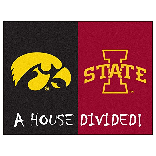 Iowa State Rug (FANMATS NCAA House Divided Nylon Face House Divided Rug)