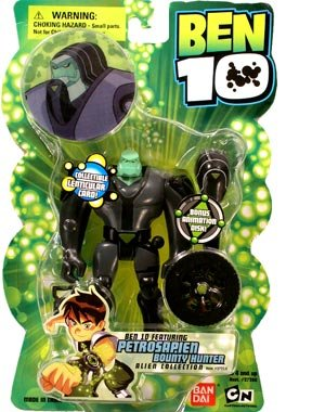 Ben 10 Alien Collection Petrosapien Bounty Hunter Bandai 27214 CHAR-BENX-4INC-SER1-PETROSAPIEN