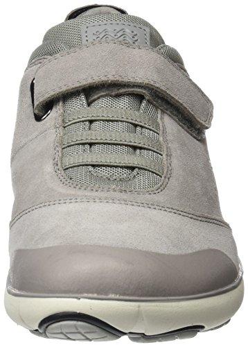 Geox J Nebula A, Sneakers Basses Mixte Adulte, Gris (Grey), 42 EU