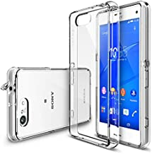 Xperia Z3 Compact Case - Ringke FUSION Case [Free HD Film/Dust&Drop Protection][CLEAR] Shock Absorption Bumper Premium Hard Case for Sony Xperia Z3 Compact (Not for Z3+ / Z3 / Z3 Dual / Z3v / Z3 Tablet)