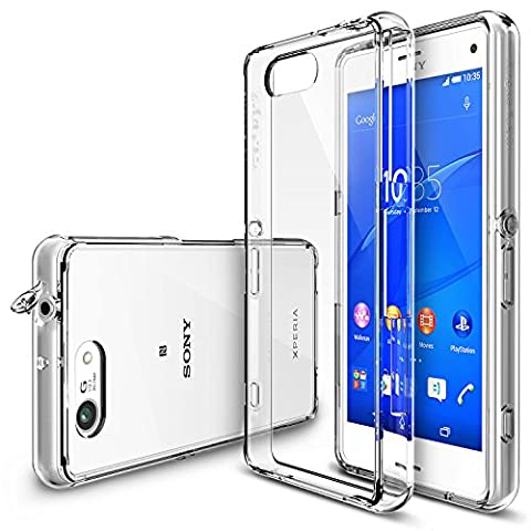 Xperia Z3 Compact Case - Ringke FUSION Case [Free HD Film/Dust&Drop Protection][CLEAR] Shock Absorption Bumper Premium Hard Case for Sony Xperia Z3 Compact (Not for Z3+ / Z3 / Z3 Dual / Z3v / Z3 (Cell Phones Cases Sony Xperia)