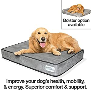 Amazon.com : PetFusion BetterLounge Dog Bed w/Solid