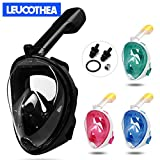 LEUCOTHEA Snorkeling Mask Full Face Diving Mask Detachable Breathing Tube with Action Camera