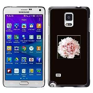 LECELL--Funda protectora / Cubierta / Piel For Samsung Galaxy Note 4 SM-N910 -- Light Pink Flower Blossom --