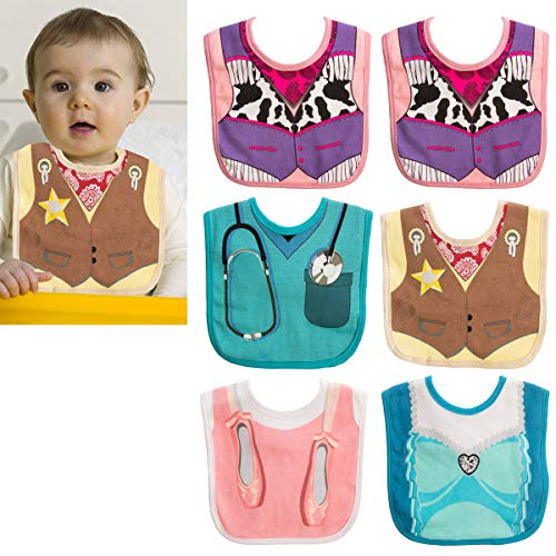 Embelle (6 Pack) Baby Bibs for Girls Or Boys 100% Cotton Baby Drool Bibs Unisex Costume Bib for Teething Drooling