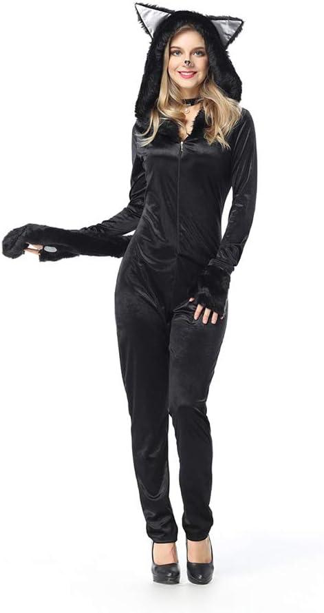 OLKWG Disfraz De Oso Negro Sexy Lady Mono Negro De Halloween ...