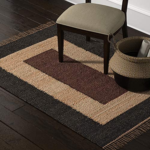 Amazon Brand Stone Beam Modern Jute Area Rug, 4 x 6 Foot, Nuetral Multicolor