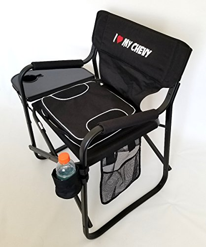 ''''''''SEASON SPECIAL'''''' I LOVE MY CHEVY--- Folding Aluminum Director Chair-- PRODUCT---5 YEARS WARRANTY by Oasis