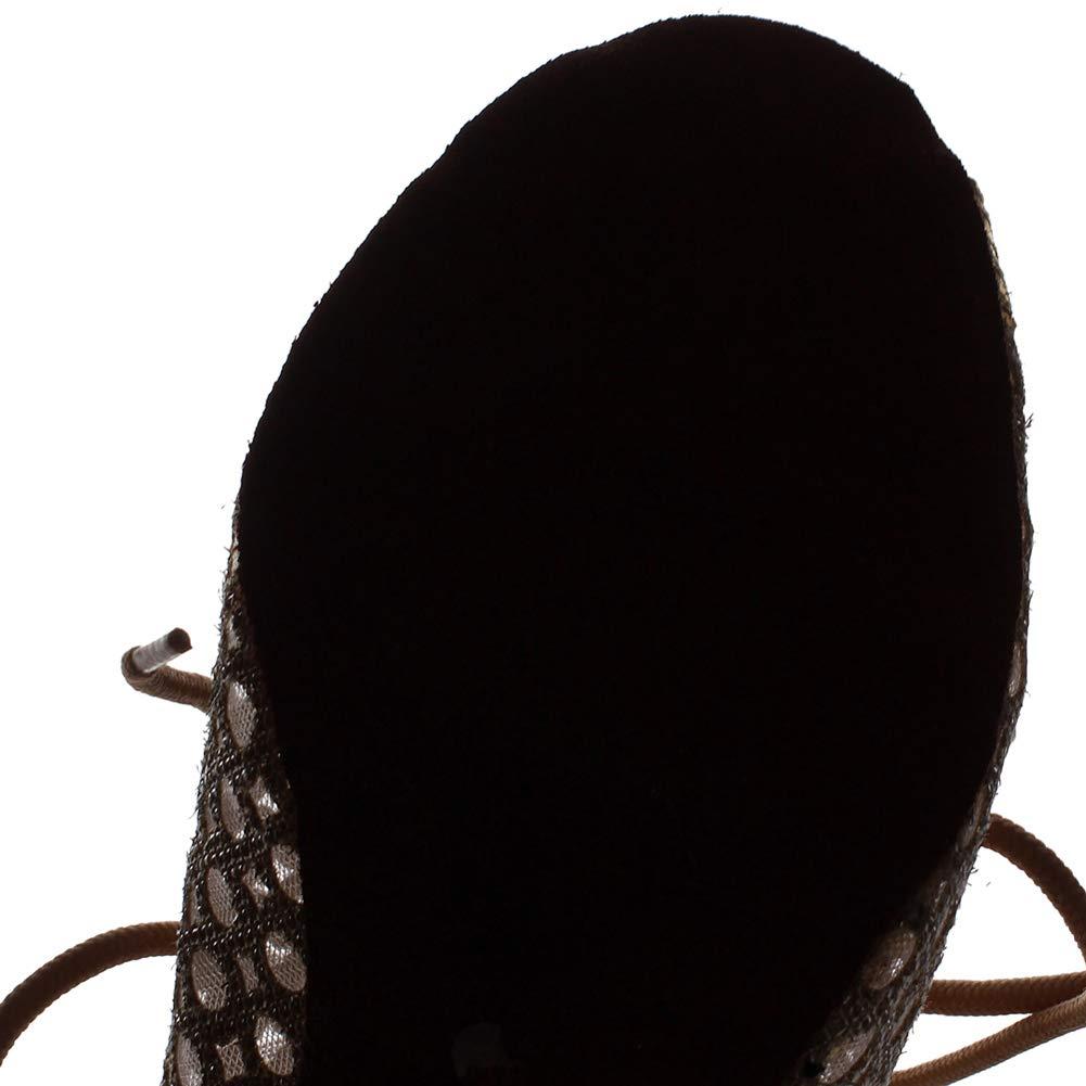 XIAOY Weibliche Ballroom Latein Tanzschuhe Riemchen Peep Toe Toe Toe High Heel Weiche Untere Schuhe  6b0b2d