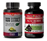Product review for weight loss natural vitamins - NONI - ACAI BERRY - COMBO - noni immunity - (2 Bottles Combo)