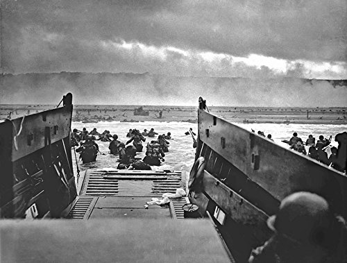 Home Comforts Laminated Poster War Omaha Beach D-Day Normandy Landing Craft Poster Print 24 x 36