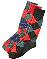 Ralph Lauren Polo Mens Holiday Argyle Dress Crew Socks 3 Pack