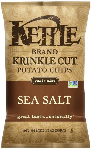 Kettle Brand Krinkle Cut Potato Chips, Sea Salt, 13-Ounce Bags (Pack of (Krinkle Cut Potato Chips)