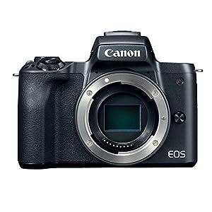 Canon EOS M50 24.1MP Mirrorless Digital Camera Body – 4K & HD Video + 32GB Memory Card + Camera/Camcorder Bag + 12…