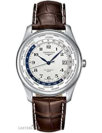 Longines Men's Brown Leather Band Steel Case Automatic Silver-Tone Dial Analog Watch L28024703