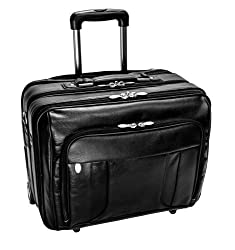 Mckleinusa Lasalle 83405 R Series Leather 17-inch Wheeled Laptop Overnight (Black)