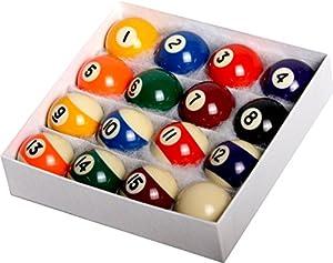 "Pool Table Billiard Ball Set - Regulation Size 2-1/4"" Full 16 Pool Ball Set"