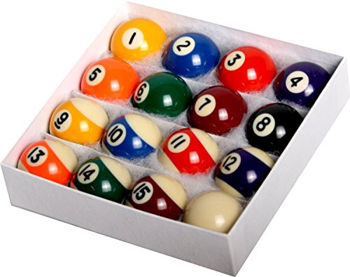 Pool Table Billiard Ball Set - Regulation Size 2-1/4